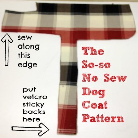 no sew dog coat pattern | slowgirlfastdog